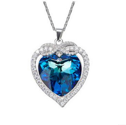 $enCountryForm.capitalKeyWord UK - Top quality S925 Sterling silver the Heart of ocean pendant neckalce Inlaid blue crystal come with beautiful box