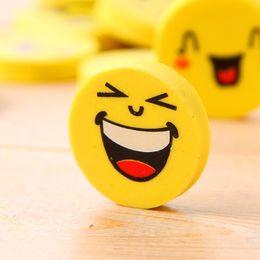 $enCountryForm.capitalKeyWord Australia - Fashion New Cute Smiling Face Erasers Emoji Eraser Smile Lovely Eraser Funny Face Eraser Smile Style Rubber Kids Gift Creative