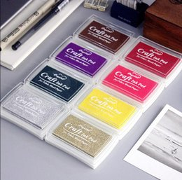 Scrapbooking ink padS online shopping - LY IP01 DIY Color ink Pad Multicolour Inkpad Stamp Decoration Fingerprint Scrapbooking Accessories for stamps