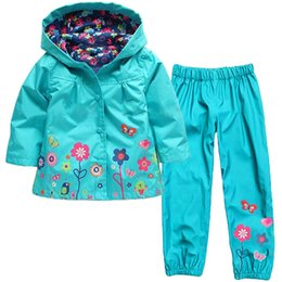 China Wholesale- autumn spring children suit (hoodie+pants) boys hoodies coat kids jacket girl clothing suit children raincoat girls clothing set supplier boys casual suits suppliers