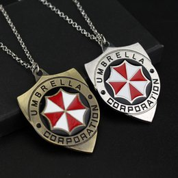 $enCountryForm.capitalKeyWord Canada - Cool Biohazard Resident Evil necklaces Pendants Link Chain Red Umbrella Pendant necklace for women men gifts movie jewelry
