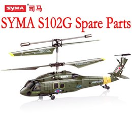 Toy Helicopters Parts NZ - SYMA S102G Main Blades USB Cable Charger Motor Mini rc R C Radio Control Helicopter Heli Copter Boy Toys Spare Parts Access Accessories