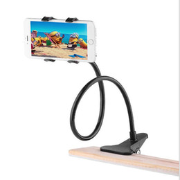 Lazy ceLL phone hoLder online shopping - Universal Cell Phone Holder Lazy Phone Holder Clip Bracket Flexible Long Arms for All Mobile fit on Desktop Bed Mobile Stand