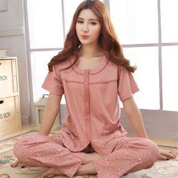 e5b3b3bedd Sexy Plus Size Pajamas Canada - Women s Pajamas Summer Sleepwear Short  Sleeve Cotton Pyjamas Trousers Womens
