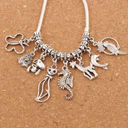 Giraffes bracelet online shopping - Butterfly Cat Bird and Giraffe Charms Mixed Beads Fit European Bracelet Jewelry DIY BM30