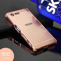 Acrylic Brush Case Canada - Case For Sony Xperia X Compact X Mini F5321 Brush Acrylic Back Cover& Metal Frame Set Phone Bag Fundas+TPU Anti-Shock