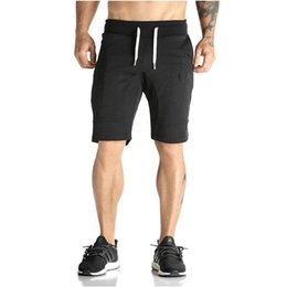 c84a69e544087 Wholesale- Man Shorts Men s Short Trousers 2016 Casual Calf-Length Jogger Mens  Shorts Sweatpants Fitness Man Workout Cotton Shorts