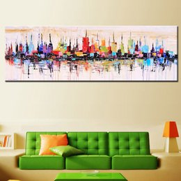 $enCountryForm.capitalKeyWord NZ - Fashion Modern Decorative Living Room Hand Painted Oil Painting Large Canvas image Mirage City Landscape ABSTRACT MUR ART