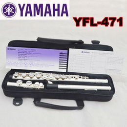 2018 closed hole flutes Wholesale-Free Shipping High Quality Brand New Flute Case Silver YFL-471 Silver Plated 16 Closed Holes C Key Flute With