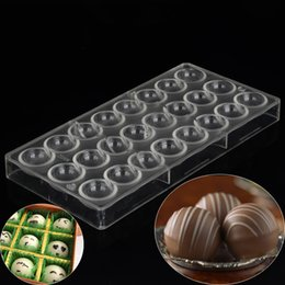 Wholesale Sphere Round Ball Chocolate Molds Kitchen Bakeware Baking Pastry Tools Polycarbonate Chocolate Mold Plastic