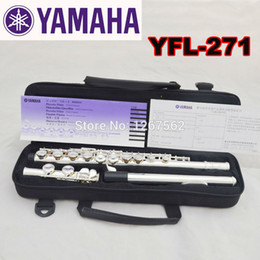 Discount closed hole flutes Wholesale-Free Shipping High Quality Brand New Flute Case Silver YFL-271 Silver Plated 16 Closed Holes C Key Flute With