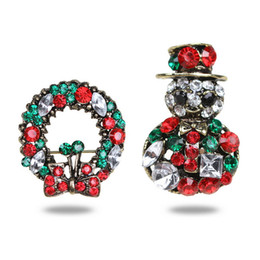 $enCountryForm.capitalKeyWord Canada - Colorful Rhinestone Christmas Brooch Pin Set Crystal Pins Badge Brooches for Women Scarf Pin Christmas Gifts
