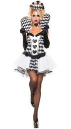free size lolita dresses UK - Chess Poker costume adult halloween costumes for women sexy cosplay black gothic lolita dress fantasy women wholesale