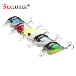 Soft Bait Brands Canada - Sealurer Brand Quality Fishing Bait 5pcs Crankbaits Fishing Lure 5.5cm 8g Bass Lure Wobblers with Ball Inside Fly Fishing Tackle