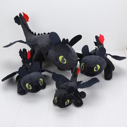 $enCountryForm.capitalKeyWord Canada - How to Train Your Dragon 55cm + 40cm + 33cm + 22cm Toothless Night Fury Plush Doll Soft Stuffed Toy can cho