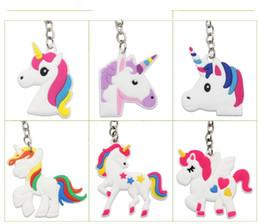 Discount phone kid - Unicorn Keychain Keyring Cellphone Charms Handbag Pendant Kids Gift Toys Phone Decoration Accessory Horse Key Ring A08
