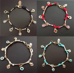 $enCountryForm.capitalKeyWord Canada - New Charm Bracelets handcrafted Classic jewelry Turkey Contracted Fatima restoring ancient ways of palm and eye bracelet C024