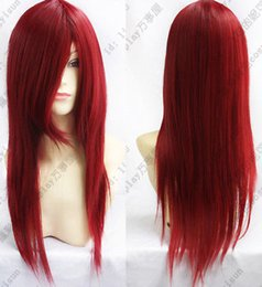 Synthetic Wigs Mcoser Free Shipping 90cm Long Synthetic Straight Dark Red Cosplay Costume Wig 100% High Temperature Fiber Hair 343a