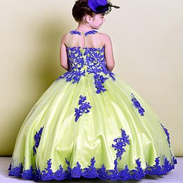 $enCountryForm.capitalKeyWord NZ - Flower Girl Dresses For Weddings With Capped Sheer Neck Appliques Lace Cupcake Pageant Dress For Girls Long Beads Girls Wedding Party Gowns