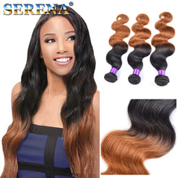 Discount 12 inch human hair two tone - Best Ombre Hair Weave Two Tone Blonde 1B 30 Brazilian Body Wave Human Hairs Weave Bundles Cheap Hair Extensions Dark Hon