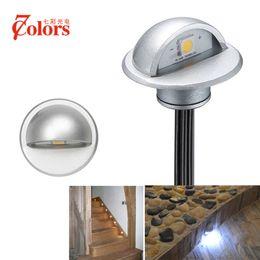 Wholesale 7Colors 6pcs Half Moon Outdoor Led Underground Light Lighting For  The Garden Patio Deck Park Path Recessed Floor Lamp Step Light