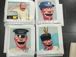 $enCountryForm.capitalKeyWord Australia - 4pcs portrait Smiling Faces,Pure Hand Painted Modern Wall Decor Portrait Art Oil Painting On High Quality Canvas.Multi customized size 008#
