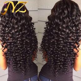 Perruques de cheveux humains Lace Front brésilien Malaysian Indian cheveux bouclés Full Lace Perruque Remy Vierge Cheveux Lace Front Perruques Pour Les Femmes Noires en Solde