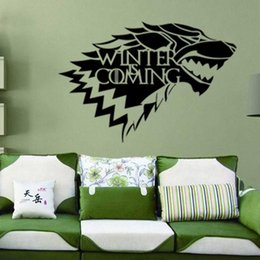 game television Canada - 9945 wolf game creative PVC environmental study bedroom decorative wall stickers paper Game of Thrones sticker