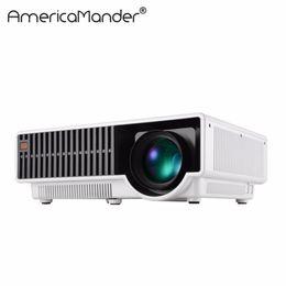 Data show Dlp projector online shopping - inch screen Brightest Lumen Full HD DLP Business Advertising Education data show D Projector Beamer Projektor Proyector