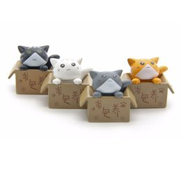 Cute Resins Figures Canada - Cute Seek nurturing Cheese Cat Cartoon Anime Action Figure Resin Toys DIY Model For Children Kids Christmas Toys Girls Gifts