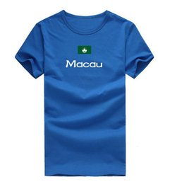 T Shirt Cotton Sport Fashion NZ - Macau T shirt Fashion sport short sleeve Home time tees Nation flag clothing Unisex cotton Tshirt