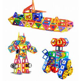 Kids Toys Blocks Plastic Canada - New 64pcs 95pcs 145pcs Mini Magnetic Designer Construction Set Model & Building Toy Plastic Magnetic Blocks Educational Toys For Kids Gift