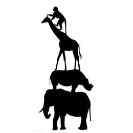 $enCountryForm.capitalKeyWord UK - Cartoon Elephant Giraffe Monkey Zoo Animal Stickers Motorcycle SUVs car stickers Creative Classic Personality Decals