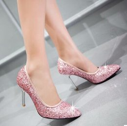 $enCountryForm.capitalKeyWord NZ - Wholesale New Arrival Hot Sale Specials Sweet Girl Sexy Noble Nightclub Leather Sequins Pointed Big Size Knight Party Heels Shoes EU34-42