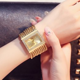 glasses trade Australia - Hot hot style ladies fashion fashion table square bracelet manufacturers selling diamond watch foreign trade