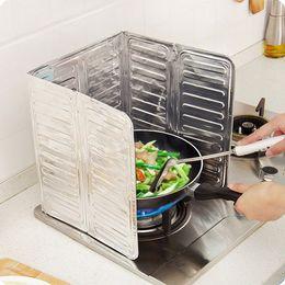 $enCountryForm.capitalKeyWord Canada - Wholesale- New Cooking Frying Pan Oil Splash Screen Cover Anti Splatter Shield Guard Oil Divider Kitchen Accessories Hogard