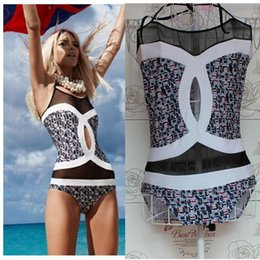Drop Shipping Swimwear Pas Cher-2017 Nouvelle Impression Numérique Un Maillot de bain One Pieces Femme Maillot de bain Bikini Bain Push Up Rembourré Bikinis Sweet Drop Shipping