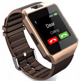 smart watch android sim UK - 1pc DZ09 Bluetooth Smart Watch Android Phone OS Call Support SIM TF Card Camera DZ09 Smartwatch With Fitness Tracker