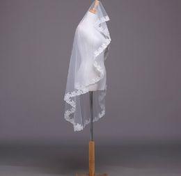 $enCountryForm.capitalKeyWord NZ - Hot Sale High Quality Cheap White Ivory Wedding Veils with Appliques Mantilla velos de novia Short Wedding Accessories