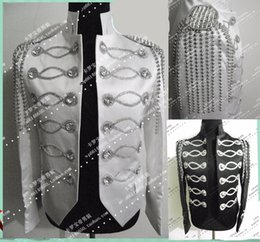 Usure Personnalisée Pas Cher-hommes argent noir veste tenue chanteur danseur vêtements Custom salon mâle scène blazer prom party tenue manteau bar star concert costumes discothèque
