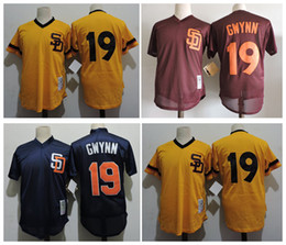 on sale 2e0ff e9f6b mlb jerseys san diego padres 19 tony gwynn cream 1948 turn ...