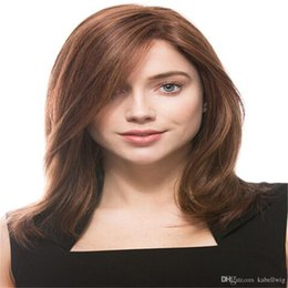 net wigs NZ - human Hair 100% Full Lace Human Hair Wigs MONO Net Glueless Straight Natural Color Dark brown Brazilian Remy Hair Wig Density 150% With Baby