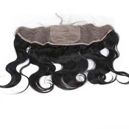 $enCountryForm.capitalKeyWord UK - 13*4 Brazilian Body Wave Silk Base Lace Frontal Closure With Baby Hair Cheap Unprocessed Virgin Human Hair Ear To Ear Lace Closure