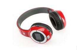 $enCountryForm.capitalKeyWord Canada - Wholesale - New Wireless Folding Stereo Sport Headphone Earphone MP3 FM Radio TF Card Slot LED Bluetooth wireless headset D-420
