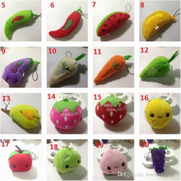Toy Cookies Canada - High quality New Fruit Plush Toys Strawberry Apple Cookies so Lipstick Chocolate Muffin Toys for Girl Dolls & Stuffed 50 PCS lot