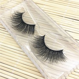 Mode Extensions De Cils Pas Cher-Vente en gros - 1 paire Fashion Women 3D Lashes Mink Natural Thick Long False Fake Eyelashes Eye Lashes Maquillage Messy Extension