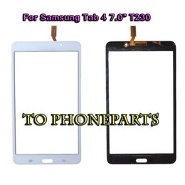 digitizer touch panel for samsung tab 2019 - 20PCS Touch Screen Digitizer Glass Panel with Adhesive for Samsung Tab 4 7.0 T230 T231 Free Shipping discount digitizer