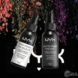 Maquillaje En Spray Baratos-Nueva llegada NYX MAKEUP SETTING SPRAY Acabado mate Fini Mat Dewy Finish Fini Veloute Acondicionador de larga duración 60ML Face Beauty DHL Free