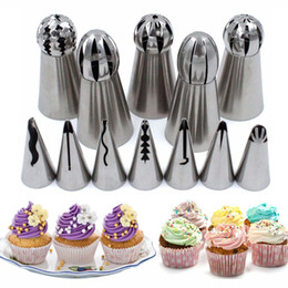 $enCountryForm.capitalKeyWord Canada - Stainless Steel 12Pcs Set Icing Piping Nozzles Cake Decorating Tips Baking Tools Kit Accessories