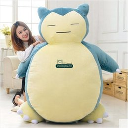 Discount japan presents Dorimytrader Hot 150cm Large Japan Anime Toy Pillow Plush Soft Stuffed Cartoon Snorlax Doll Beanbag Baby Present DY60831